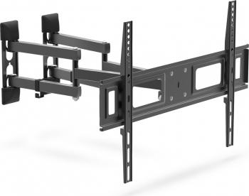 Suport TV de Perete pentru Televizor cu Diagonala intre 80-180cm Reglabil cu Brat Dublu pentru Colt Capacitate 35kg