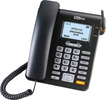 Telefon fix Maxcom Comfort MM28DHS cu SIM Black Telefoane