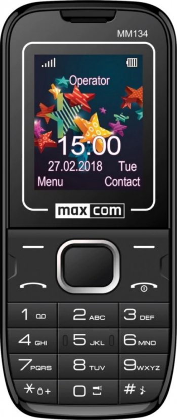 Telefon mobil Dual SIM MaxCom Classic MM134 Black Telefoane Mobile