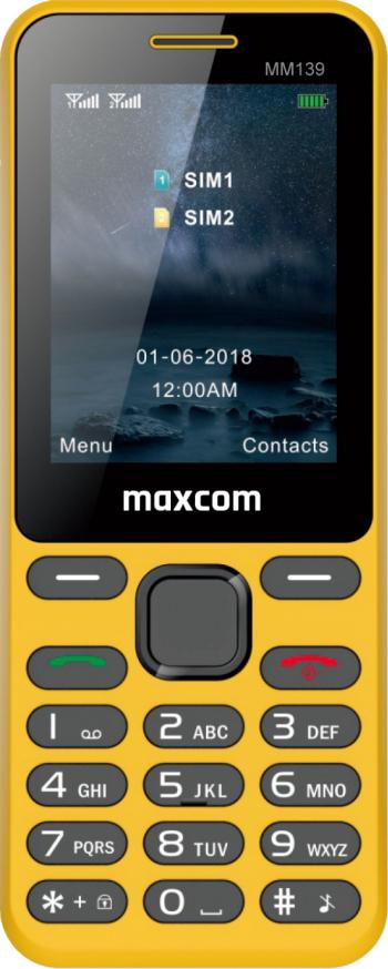 Telefon mobil Dual SIM MaxCom Classic MM139 2G Yellow Telefoane Mobile