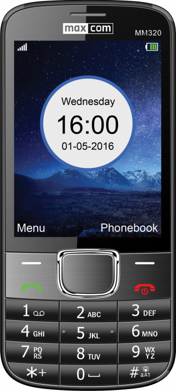 Telefon mobil Single SIM MaxCom Classic MM320 Black Telefoane Mobile