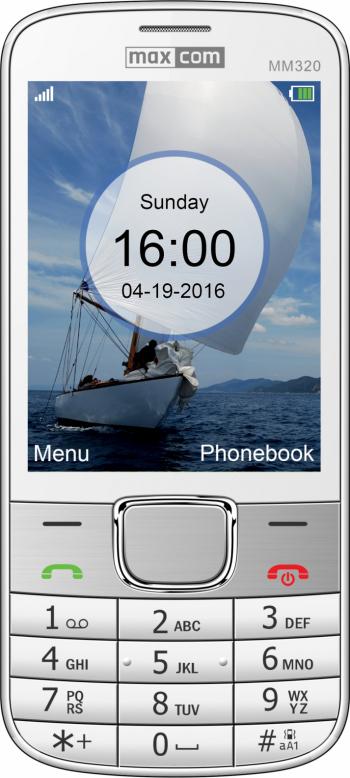 Telefon mobil Single SIM MaxCom Classic MM320 White Telefoane Mobile