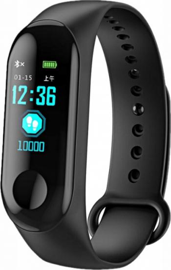 Bratara fitness MRG M-M3 Bluetooth Smart Negru Bratari Fitness