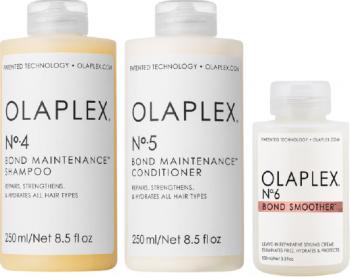 Kit intretinere Olaplex N.4 Bond Maintenance sampon 250 ml + N.5 Bond Maintenance balsam 250 ml + N. 6 Bond Smoother crema de par 100 ml