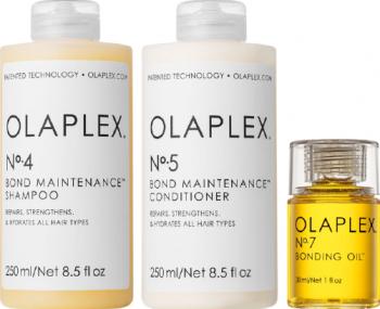 Kit intretinere Olaplex N.4 Bond Maintenance sampon 250 ml + N.5 Bond Maintenance balsam 250 ml + N.7 Bonding oil ulei 30 ml
