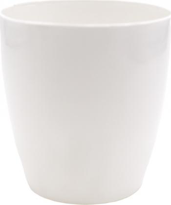 Ghiveci din plastic alb diametru 10 cm