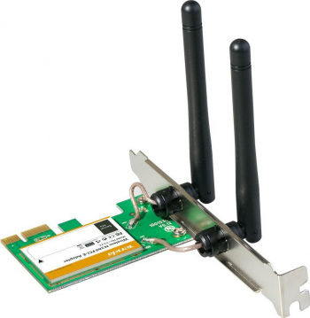 Tenda W322E Wireless N300 Express Adapter Wireless N PCI Express 2.0 x1 Adapter W322E allows you to connect a desktop computer to