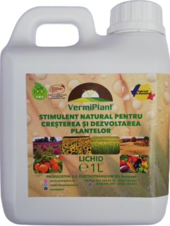 Ingrasamant natural pentru cresterea si dezvoltarea plantelor VermiPlant Lichid Universal 1 L Pamant flori si ingrasaminte