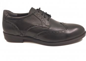 Pantofi eleganti negri din piele naturala In Tempo-41