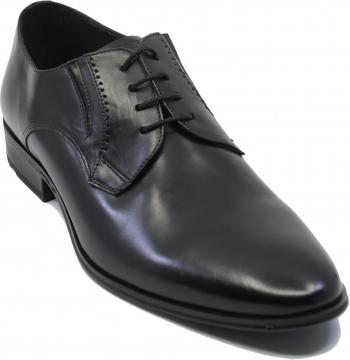 Pantofi negri eleganti din piele naturala de vita-44 EU