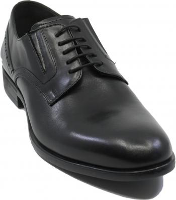 Pantofi negri eleganti pentru barbati din piele naturala-44 EU