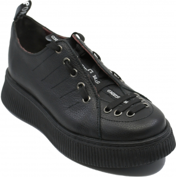 Pantofi sport dama Ayma negri din piele naturala-40 EU