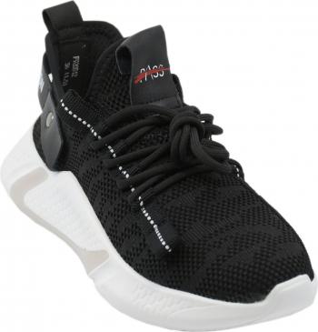 Pantofi sport dama negri din material textil tricotat-37 EU