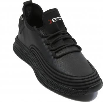 Pantofi sport Otter negri din piele naturala-40 EU