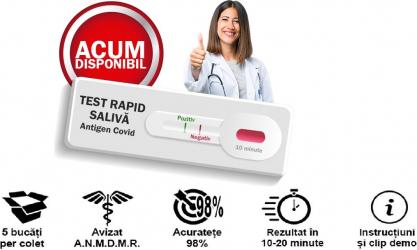 Test Rapid Saliva Antigen COVID-19 - 5 buc Realy Tech Teste rapide covid anticorpi antigen