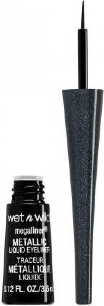 Tus de ochi lichid Wet n Wild Megaliner Metallic Eyeliner 3.5ml - 111A Cosmic Black