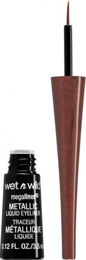 Tus de ochi lichid Wet n Wild Megaliner Metallic Eyeliner 3.5ml - 112A Metallic Brown