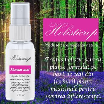 Flower Me 250ml - Produs holistic pentru sporirea inflorescentei plantelor crescute in ghiveci Pamant flori si ingrasaminte