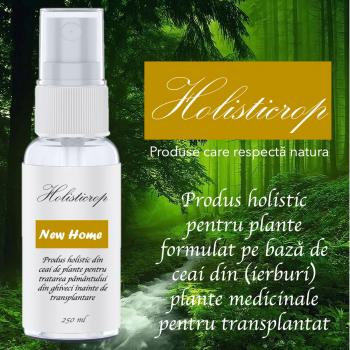 New Home 250ml - Produs holistic pentru transplantat plantat in ghiveci nou Pamant flori si ingrasaminte