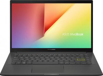 Laptop ASUS VivoBook 14 K413JA Intel Core (10th Gen) i5-1035G1 512GB SSD 8GB FullHD Tast. ilum. Indie Black
