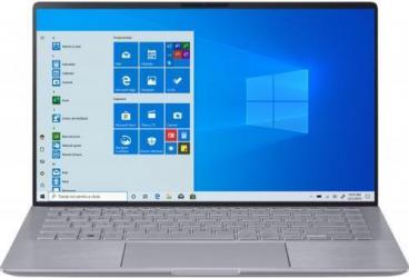Ultrabook ASUS ZenBook 14 UM433IQ AMD Ryzen 5 4500U 512GB SSD 8GB NVIDIA GeForce MX350 2GB FullHD Win10 Pro Tastatura iluminata Light Grey