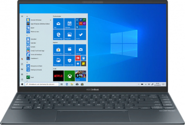 Ultrabook ASUS ZenBook 14 UX425EA Intel Core (11th Gen) i5-1135G7 512GB SSD 8GB Intel Iris Xe FullHD Win10 Tast. ilum. Pine Grey Laptop laptopuri