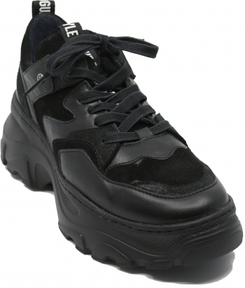 Pantofi sport dama din piele naturala antracit + negru-35 EU