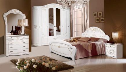 Set Dormitor Luiza 6 usi 238x60x236cm Alb