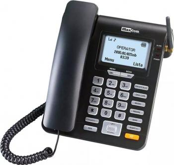 Telefon fix Maxcom MM28DHS cu SIM Negru Telefoane