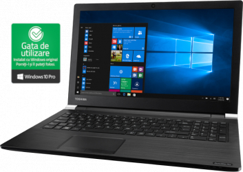Laptop Toshiba Satellite Pro A50 B554B i3-4000M 2.40 GHz 4GB RAM 320GB HDD 15 6 inch DVD Wi-Fi Win10 PRO Refurbished