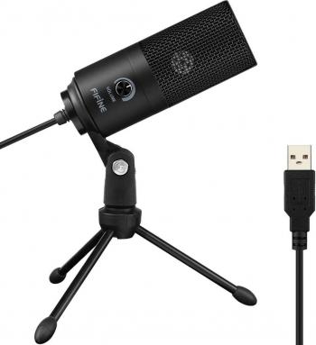Microfon FIFINE USB Microfon laptop PC Microfon condensator + suport Hobby uri creative