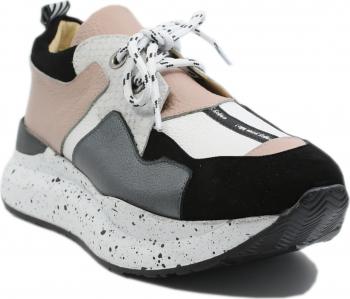 Pantofi sport dama ILI albi nude din piele naturala-40 EU
