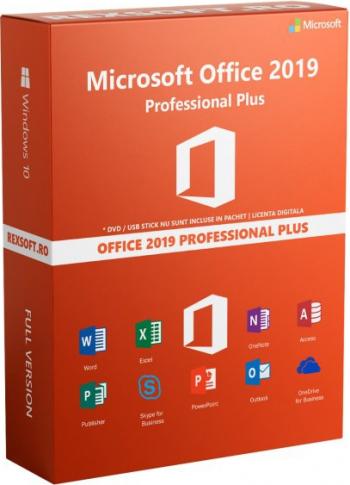 Microsot Office Professional Plus 2019 RETAIL - permanenta - 3264 bit - livrare pe email - oefrim asistenta Aplicatii desktop