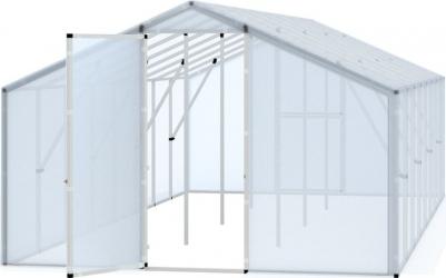 Sera tunel solar pentru gradina cu folie transparenta structura solida 3x6m Sere si Solarii