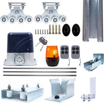 Kit automatizare porti autoportante PNI AP800C motor roti fotocelule 6m cremaliera 2x3m sina 230V 1100 N