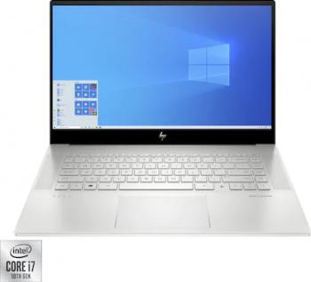 Laptop HP ENVY 15-EP0002NQ Intel Core (10th Gen) i7-10750H 1TB SSD 16GB Geforce GTX 1650Ti 4GB FullHD Win10 FPR T.ilum. Natural Silver