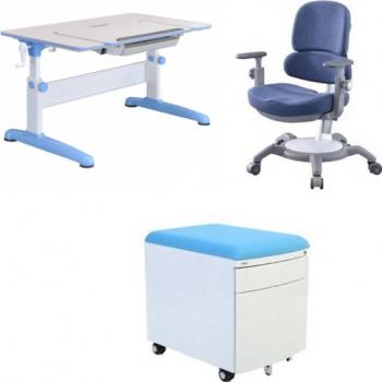 Set birou pentru copii reglabil SingBee culoare albastru Birouri copii