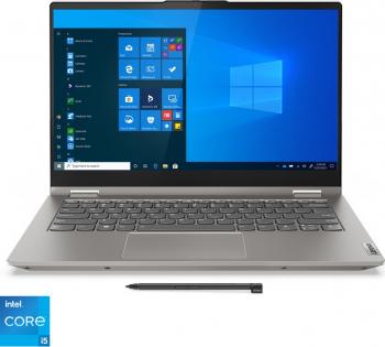 Ultrabook 2in1 Lenovo ThinkBook 14s Yoga ITL Intel Core (11th Gen) i5-1135G7 512GB SSD 8GB Iris XE FullHD Touch FPR Tas.ilum. Gri