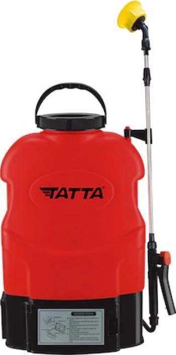Pompa pentru stropit Tatta TP-1831A cu acumulator 12V 8Ah incarcator 1 A motor 3.6 lpm rezervor tip rucsac 16 l