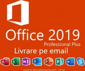 Office Pro Plus 2019 Retail All languages Permanenta Activare Online Aplicatii desktop