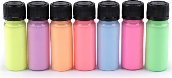 Set culori pentru materiale textile fosforescente Art e Miss 7 12 g