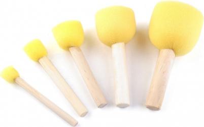 Set pensule burete pentru sabloane 5 bucati