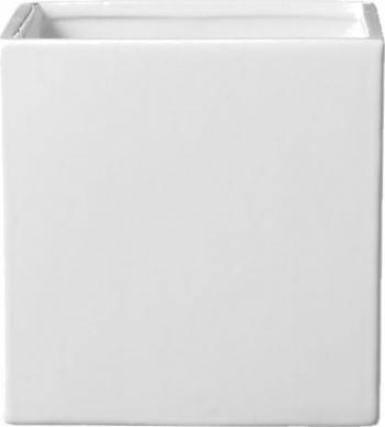 Ghiveci ceramic alb patrat 15 x 15 cm