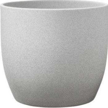 Ghiveci ceramic gri rotund 14 x 13 cm
