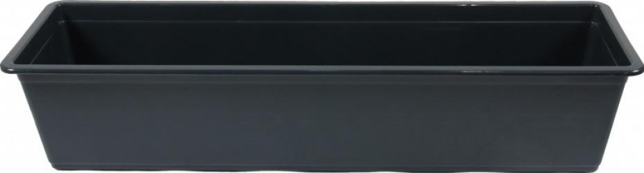 Jardiniera plastic interior/exterior antracit 60 x 18 x 12.6 cm