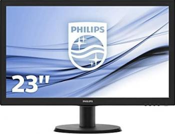 Monitor refurbished - PHILIPS MODEL 236V3L FHD 1920 x 1080 23 Wide Full HD DVI Negru
