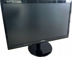 Monitor refurbished - PHILIPS model 246V5L FHD 1920 x 1080 24 WIDE NEGRU DVI