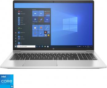 Laptop HP ProBook 450 G8 Intel Core (11th Gen) i5-1135G7 512GB SSD 8GB Geforce MX450 2GB FullHD Win10 Pro T.Ilum. Silver