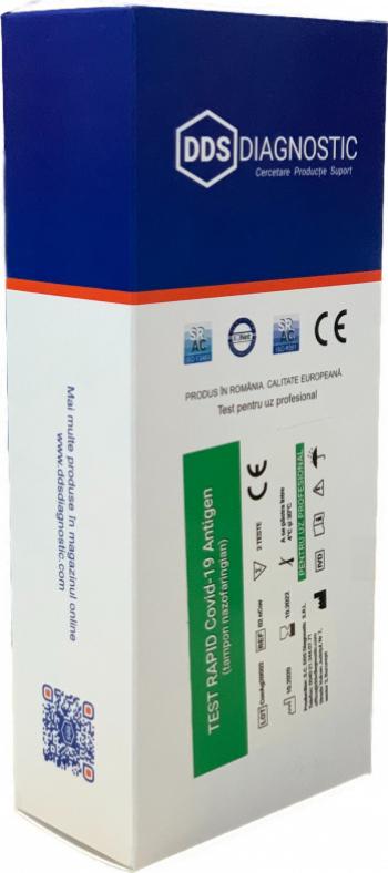 Teste Rapide Covid-19 Antigen Avizat ANMR 2 teste + 50 buc masti medicale 1 cutie Teste rapide covid anticorpi antigen