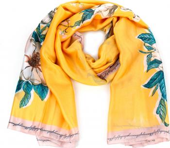Esarfa dama Pami Silk Touch 90 x 180 cm Galben